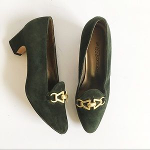 Vintage 9-2-5 green suede pumps 6.5